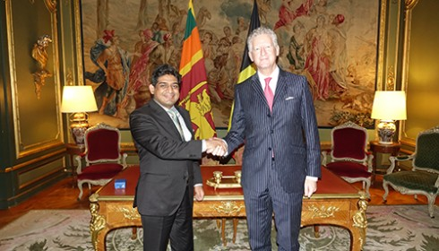 State Minister of Foreign Affairs Vasantha Senanayake meets with Secretary of State for Foreign Affairs and Foreign Trade of Belgium Pieter De Crem in Brussels  – 18.12.2017